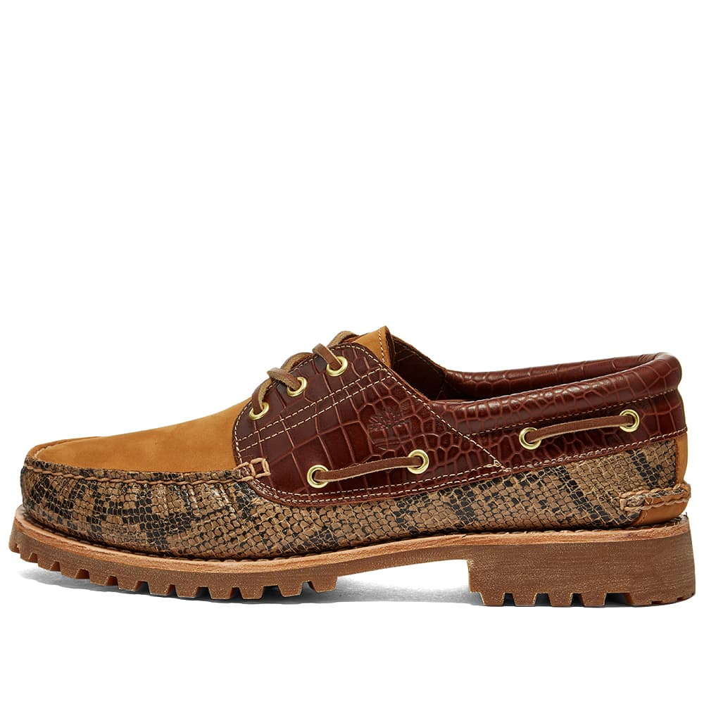 Timberland Authentic 3 Eye Classic Lug Shoe - Beige & Python