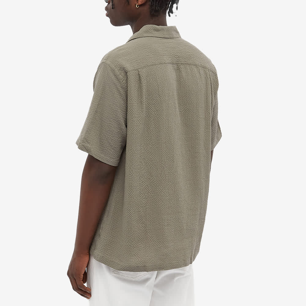 Portuguese Flannel Flame Seersucker Vacation Shirt - Concrete