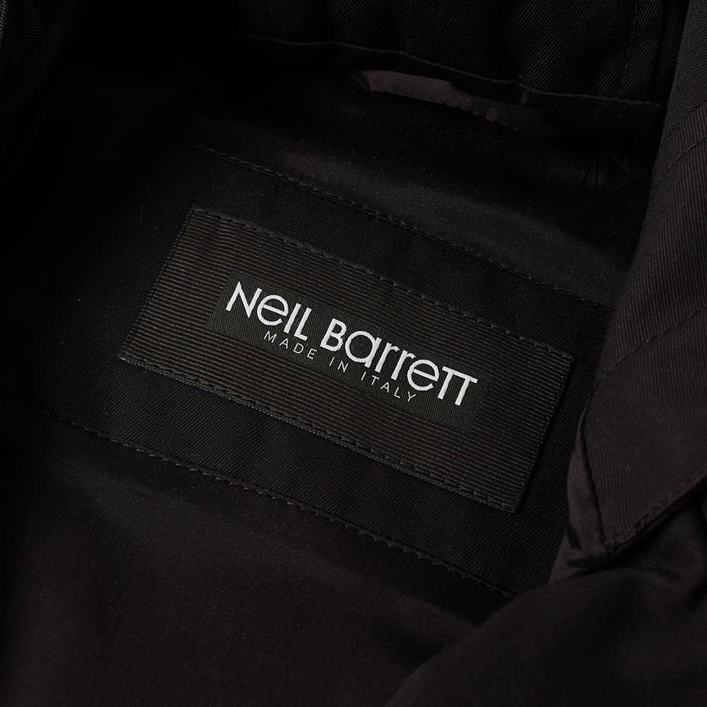 Neil Barrett Zip Hooded Biker Jacket - Black