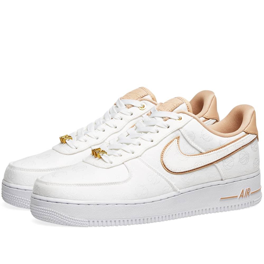Nike Air Force 1 07 Lux W White, Bio Beige & Gold   END.