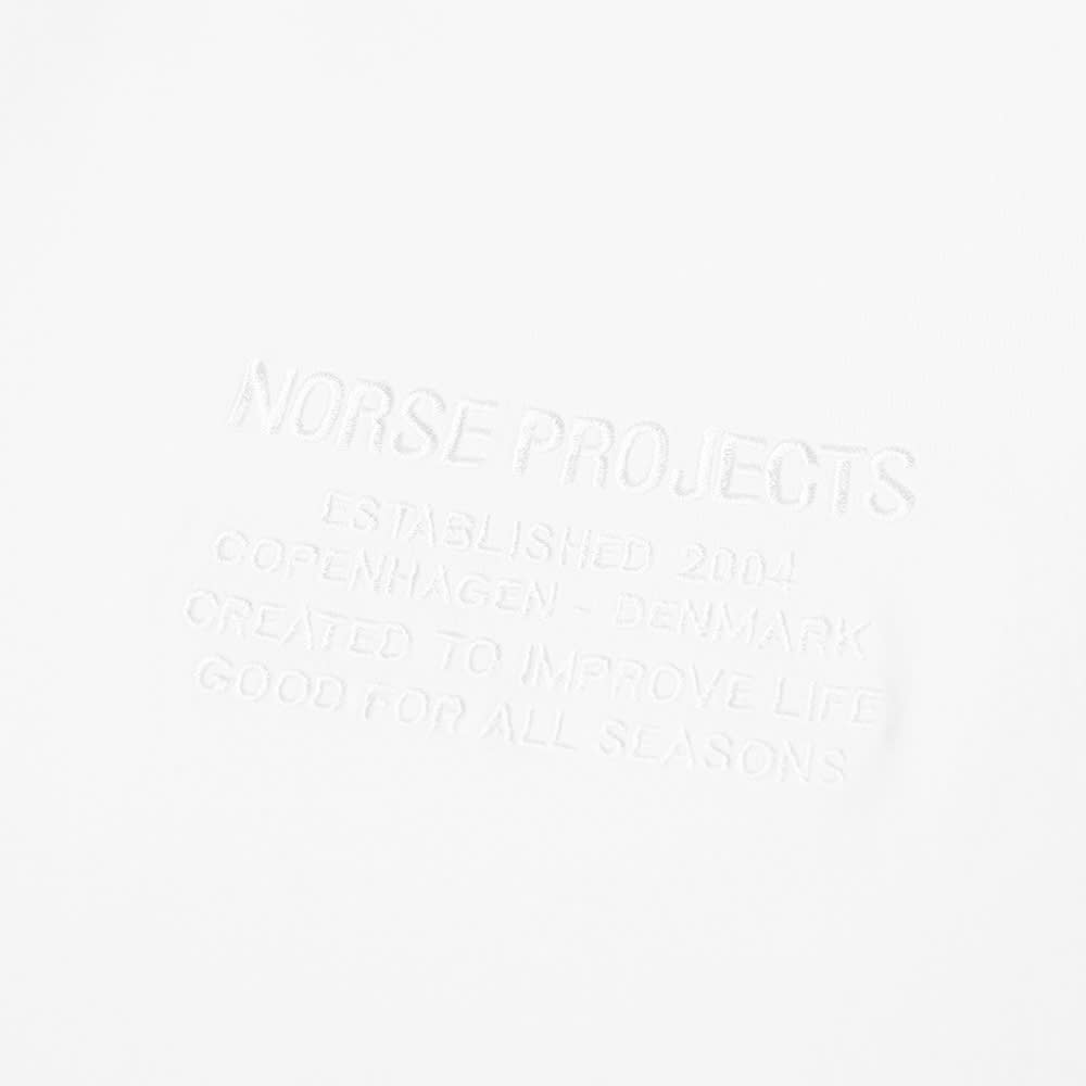 Norse Projects Embroidered Niels Logo Tee - White