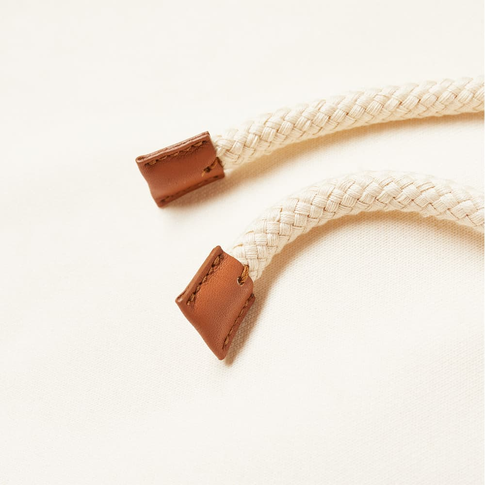 Loewe Anagram Leather Patch Hoody - White Ash