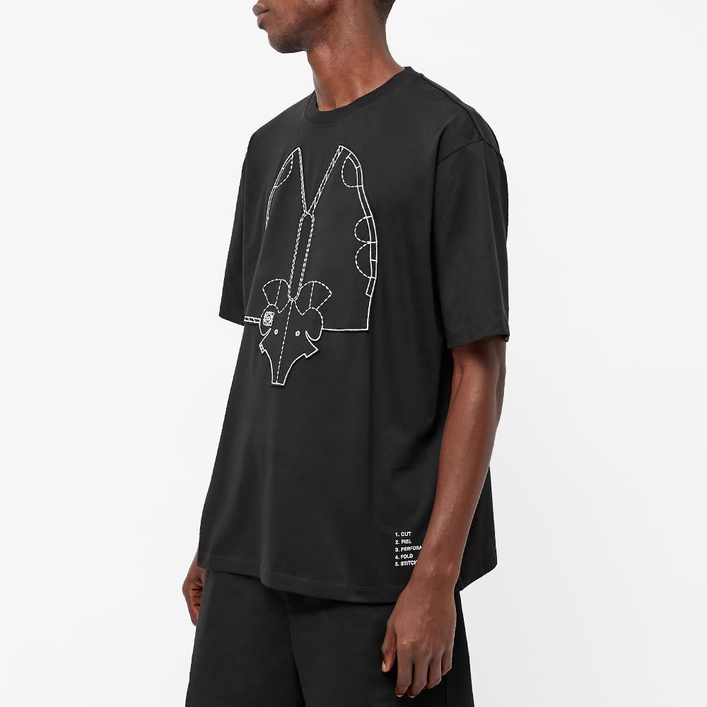 Loewe Elephant Embroidered Tee - Black