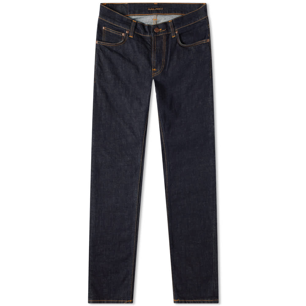 Nudie Tight Terry Jean - Rinsed Twill