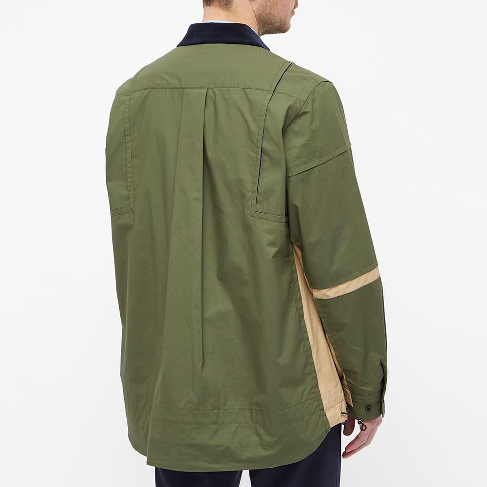 Sacai Poplin Overshirt - Khaki