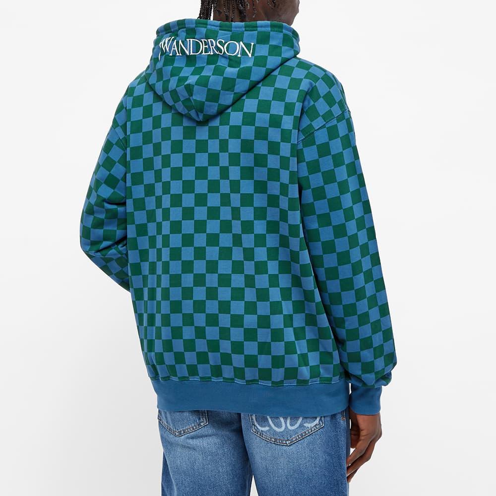JW Anderson Checkerboard Hoody - Blue & Green