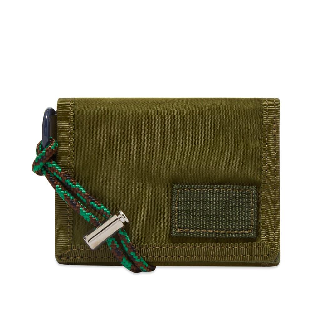Sacai Sacai X Porter Nylon Trifold Wallet - Khaki