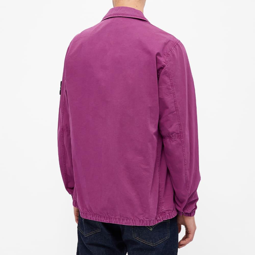Stone Island 2 Pocket Brushed Cotton Shirt Jacket - Magenta