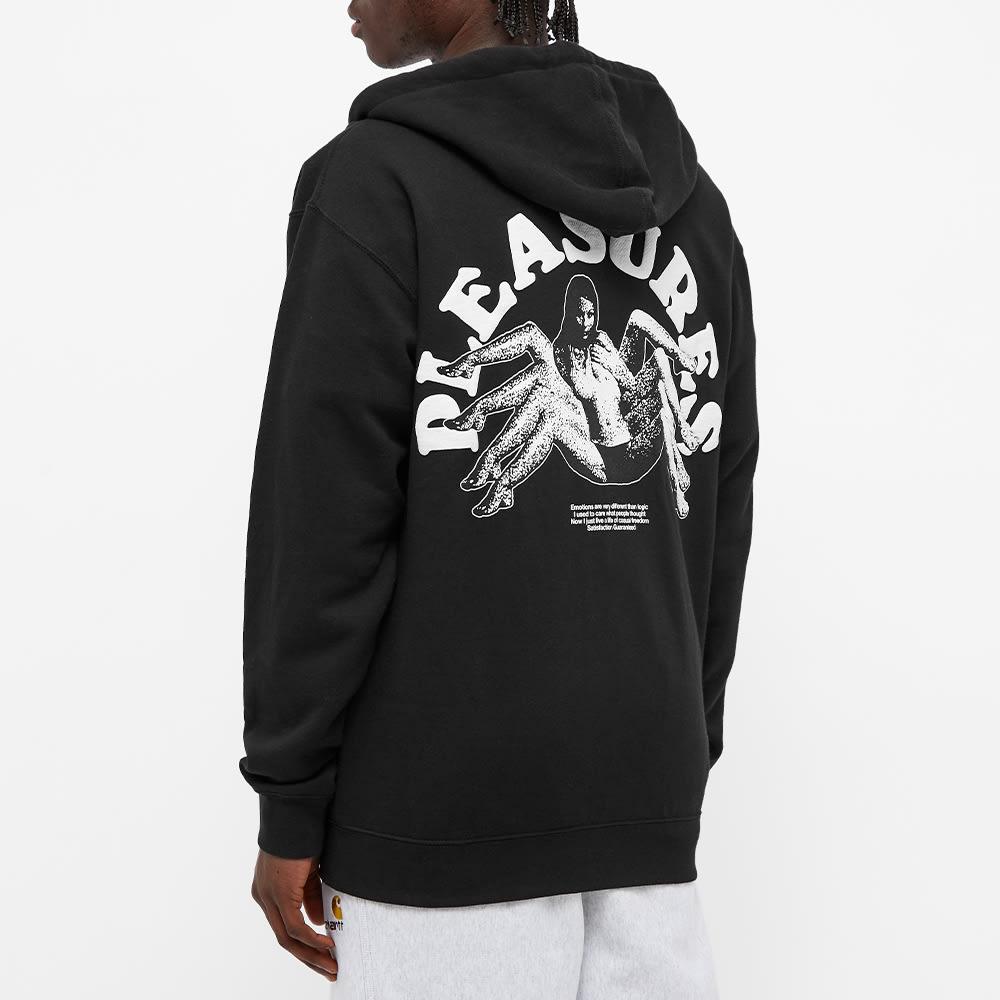 PLEASURES Logic Zip Up Hoody - Black