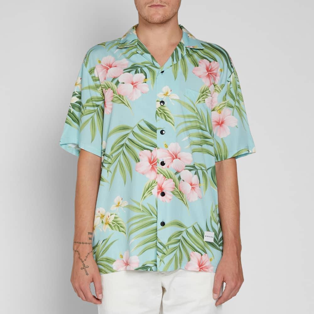 MKI Cherry Blossom Vacation Shirt - Aqua