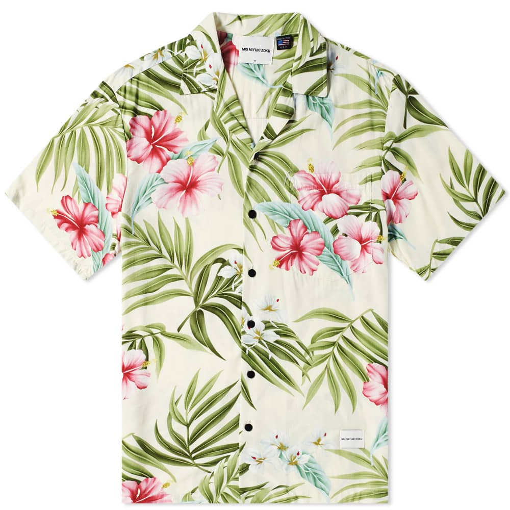 MKI Cherry Blossom Vacation Shirt - Beige