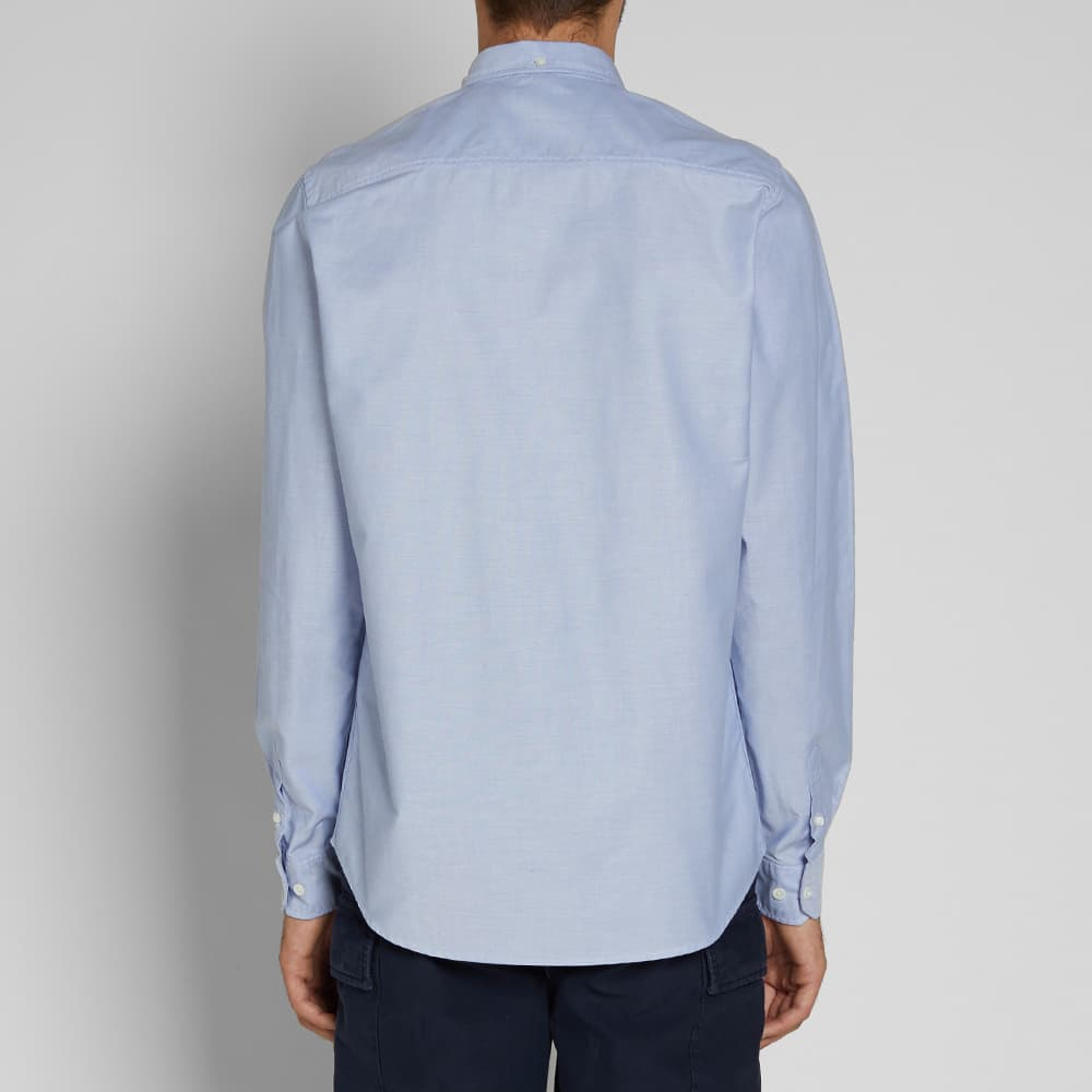 Norse Projects Anton Oxford Logo Shirt - Pale Blue