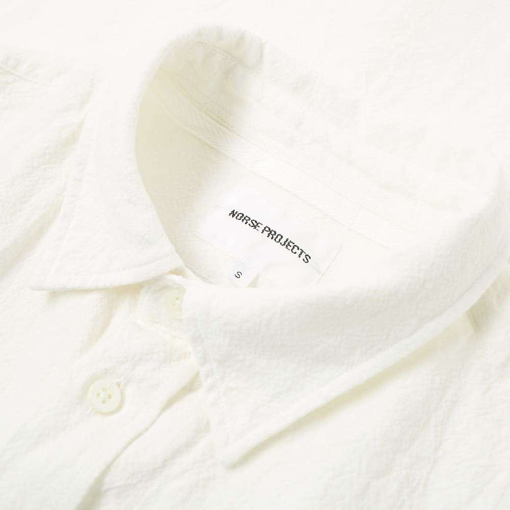 Norse Projects Osvald Textured Shirt - Kit White