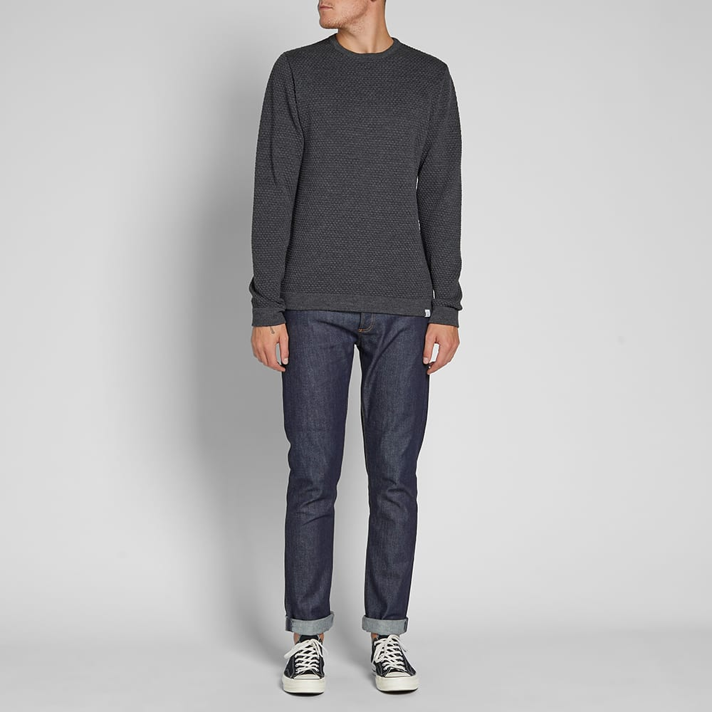 Norse Projects Skagen All Over Bubble Knit - Charcoal Melange