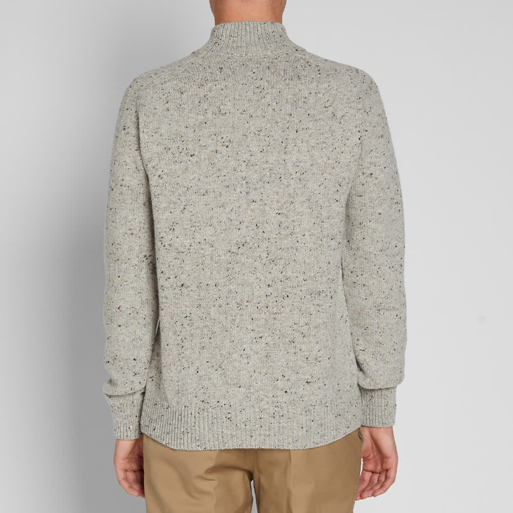 Norse Projects Viggio High Neck Neps Crew Knit - Light Grey Melange