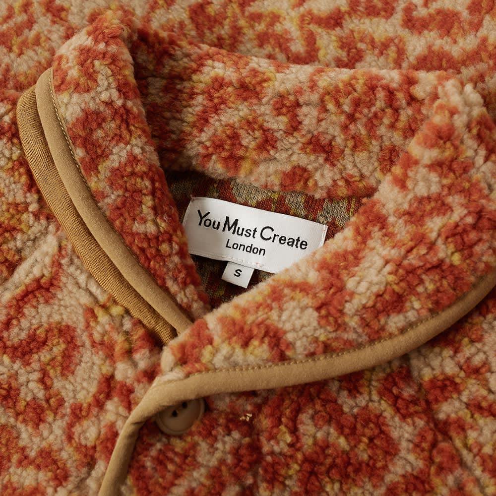 YMC Beach Polar Fleece Jacket - Rust Print