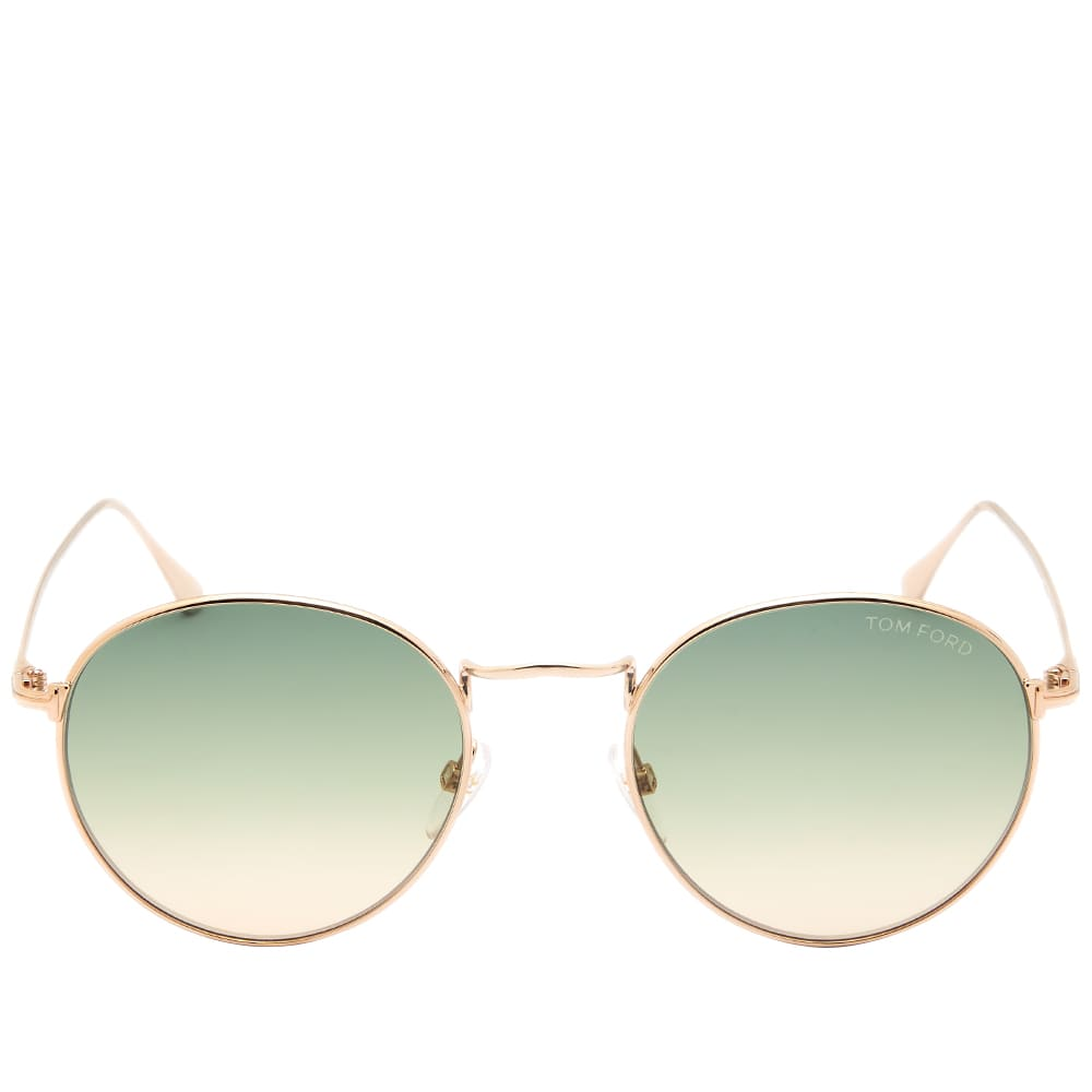 Tom Ford FT0649 Ryan-02 Sunglasses - Shiny Light Ruthenium & Green