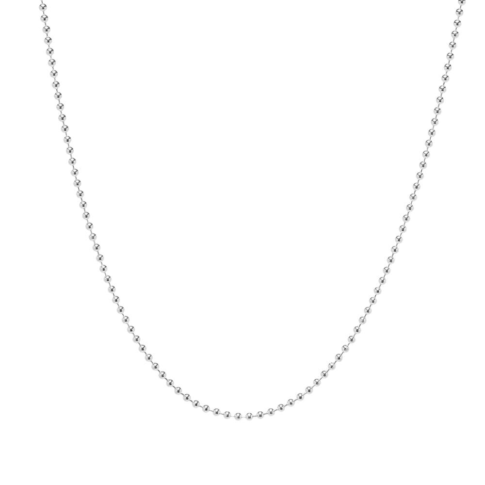 Maple Ball Chain 2.5mm 50cm - Silver