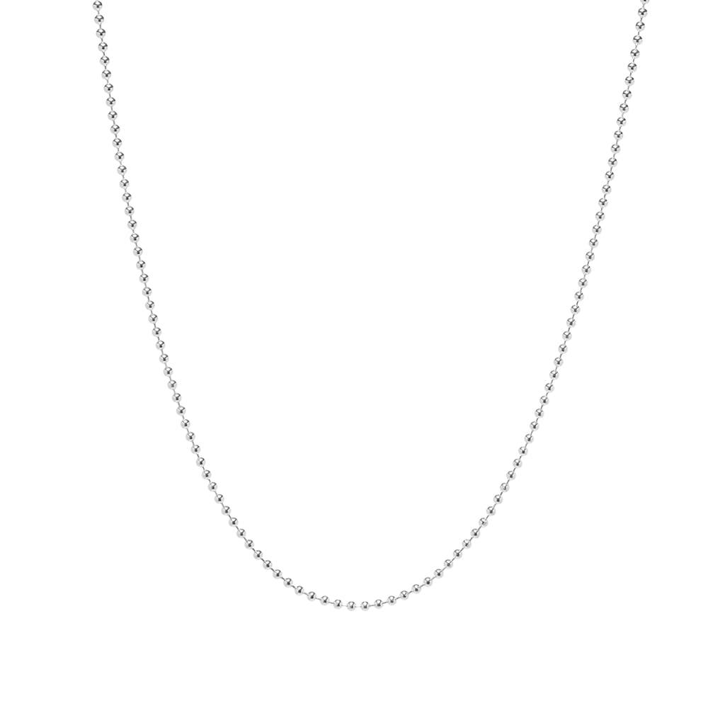 Maple Ball Chain 2.5mm 60cm - Silver