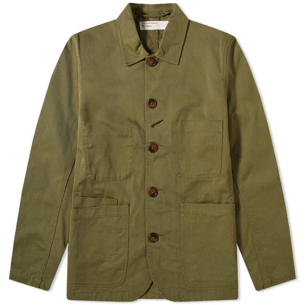 Universal Works Bakers Jacket - Light Olive