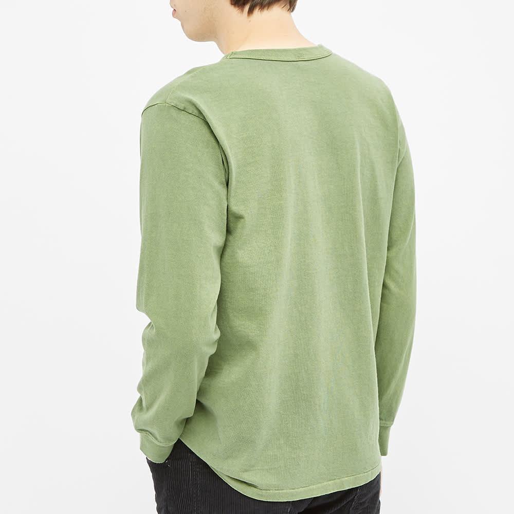 Velva Sheen Long Sleeve Heavyweight Pocket Tee - Pine