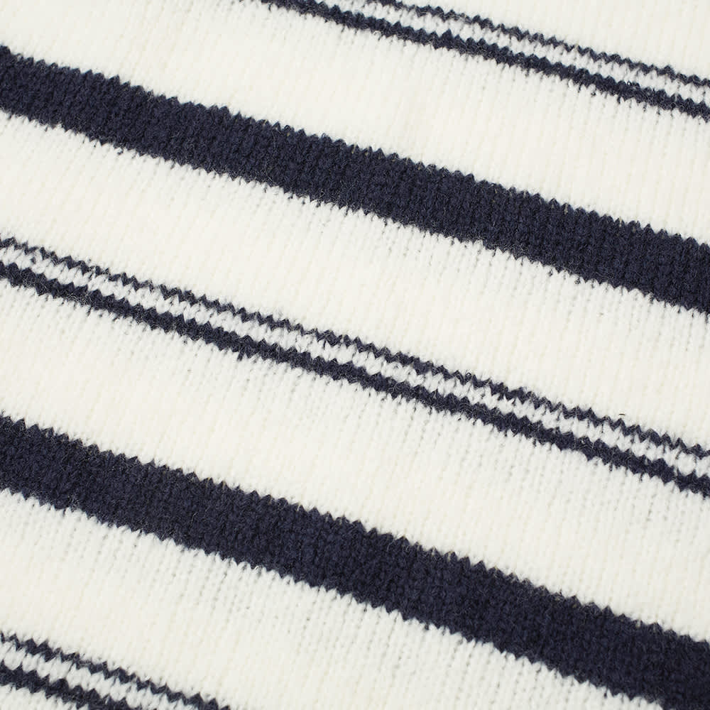 Our Legacy Sonar Striped Crew Knit - White & Navy