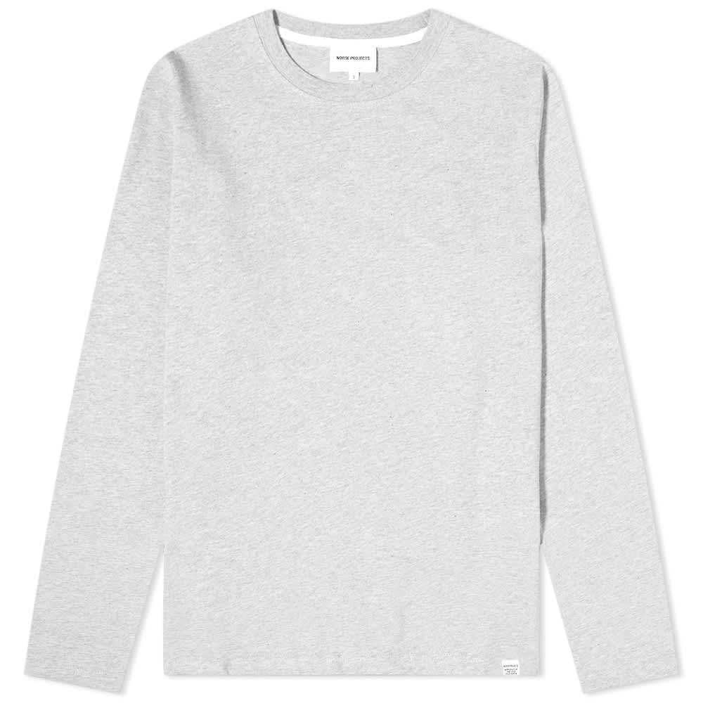 Norse Projects Long Sleeve Niels Standard Tee - Light Grey Melange