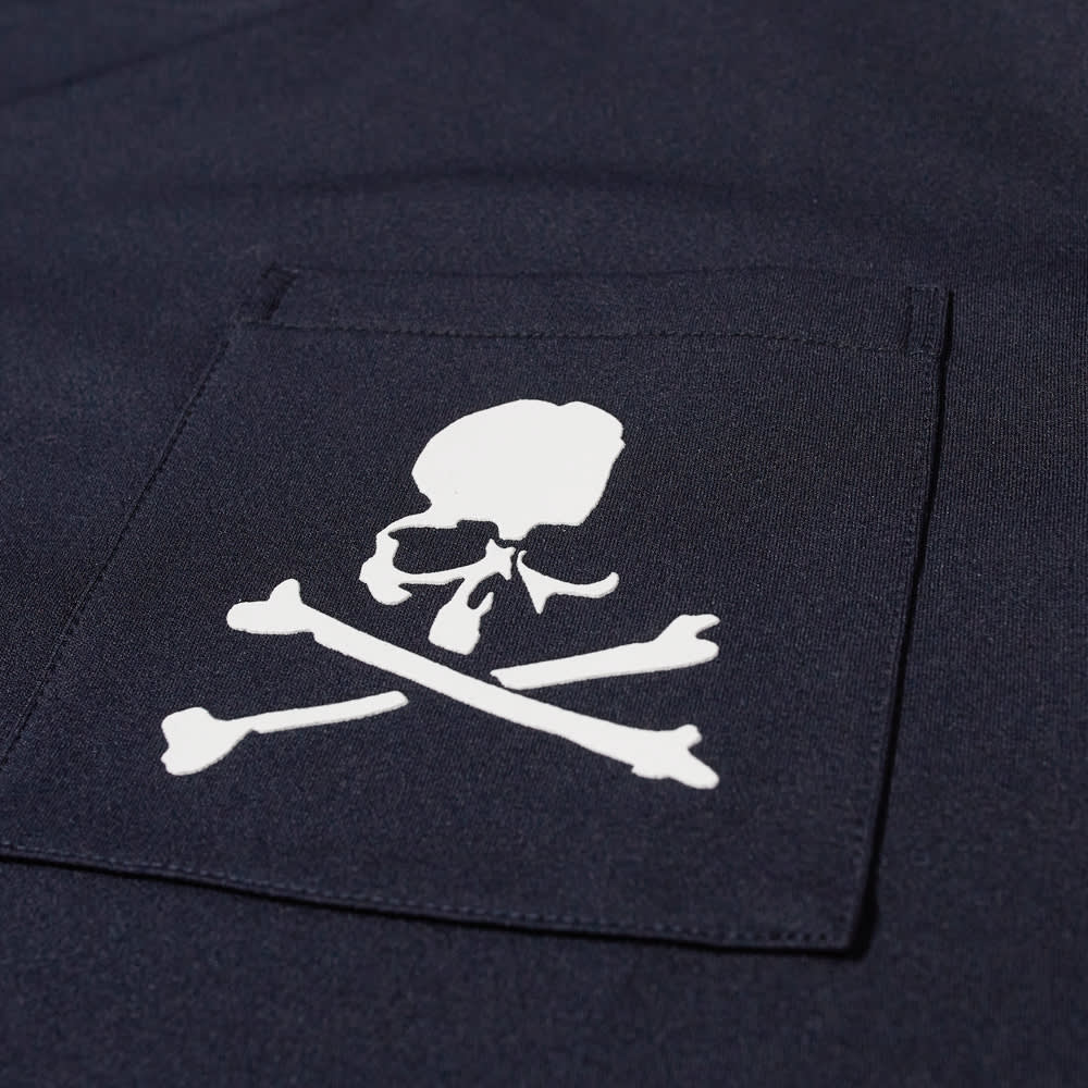 MASTERMIND JAPAN Long Sleeve Skull Pocket Tee - Navy