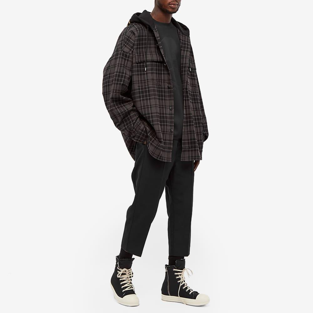MASTERMIND WORLD Hooded Flannel Shirt - Grey