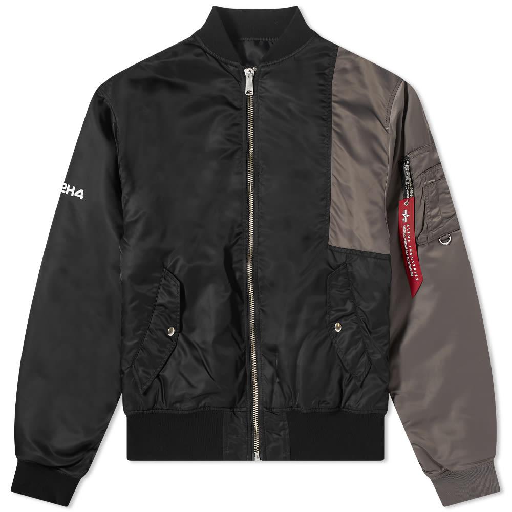 MASTERMIND WORLD x C2H4 Bomber Jacket - Black & Grey