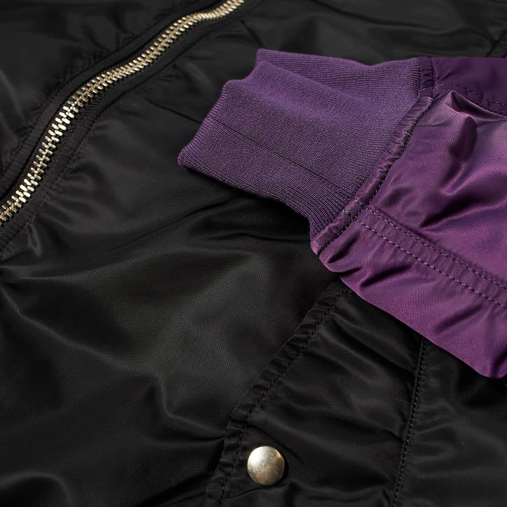 MASTERMIND WORLD x C2H4 Bomber Jacket - Black & Purple