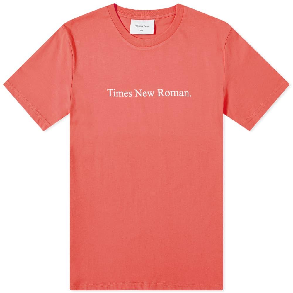 Times New Roman Chest Logo Organic Tee - Red