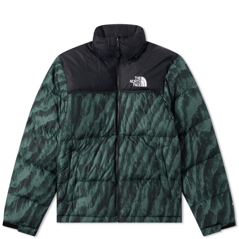 The North Face Printed 1996 Retro Nuptse Jacket - Balsam Green & Wooden Tiger