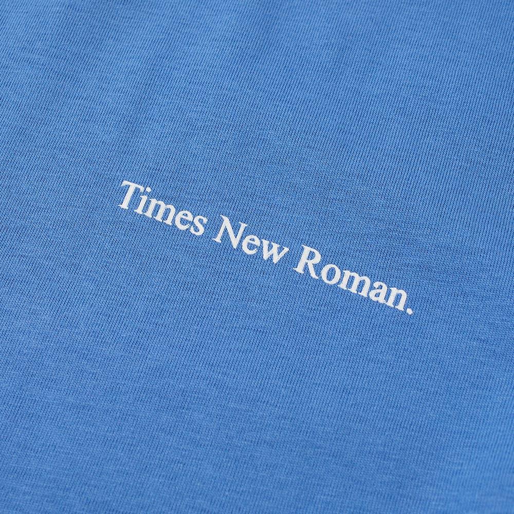 Times New Roman Chest Logo Organic Tee - Blue