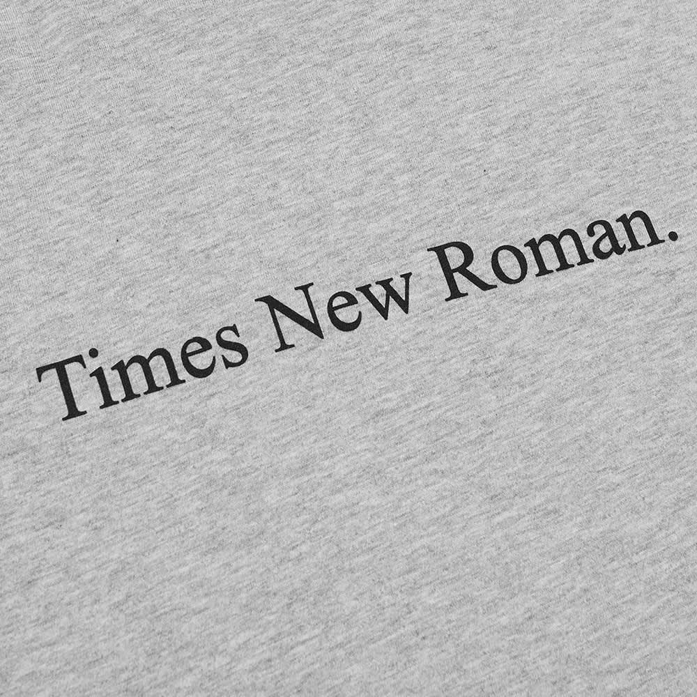 Times New Roman Classic Logo Organic Tee - Grey