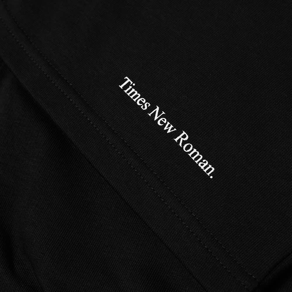 Times New Roman Classic Logo Organic Sweat Short - Black
