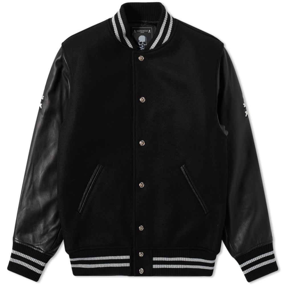 MASTERMIND JAPAN Varsity Jacket - Black