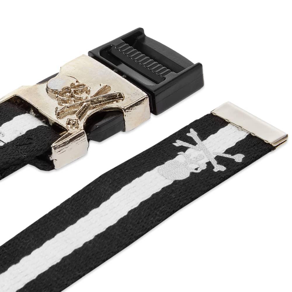 MASTERMIND WORLD Tape Belt - Black & White