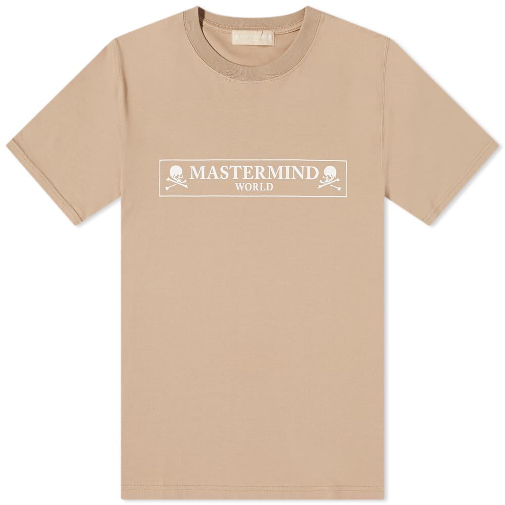 MASTERMIND WORLD Regular Box Logo Tee - Beige