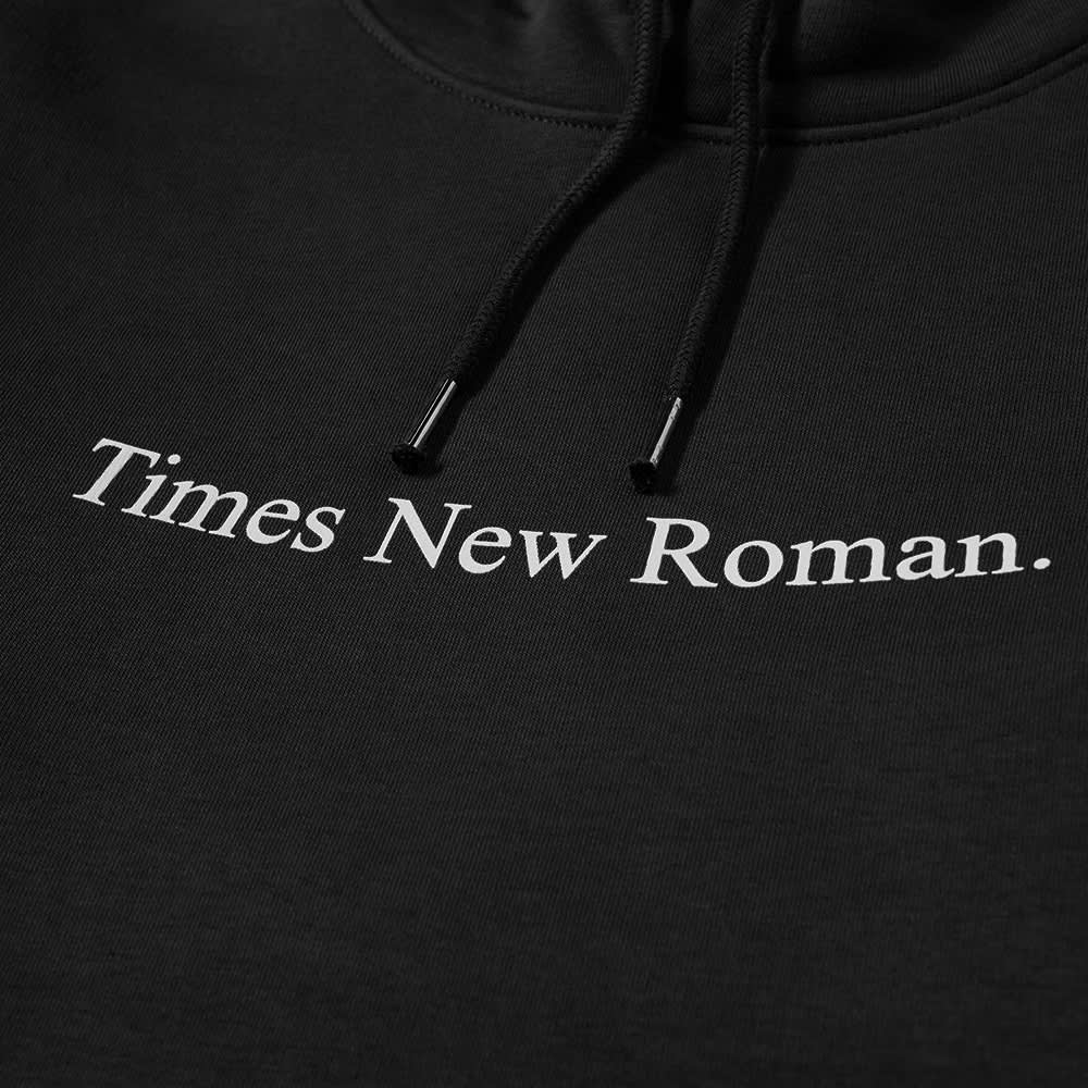 Times New Roman Classic Logo Organic Hoody - Black