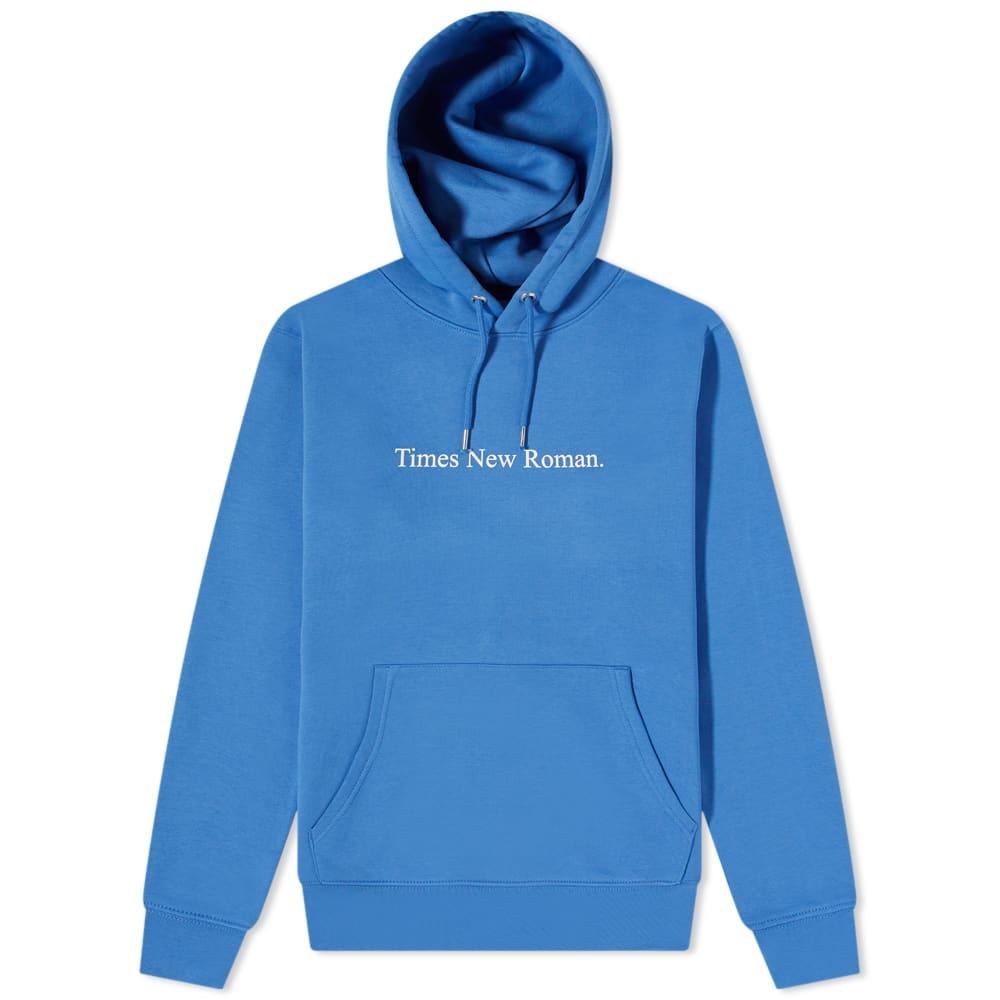 Times New Roman Classic Logo Organic Hoody - Blue