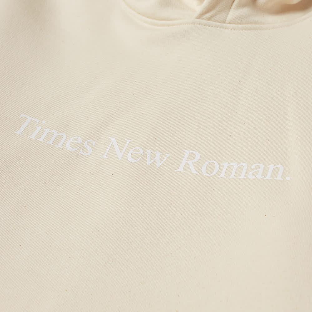 Times New Roman Classic Logo Organic Hoody - Natural
