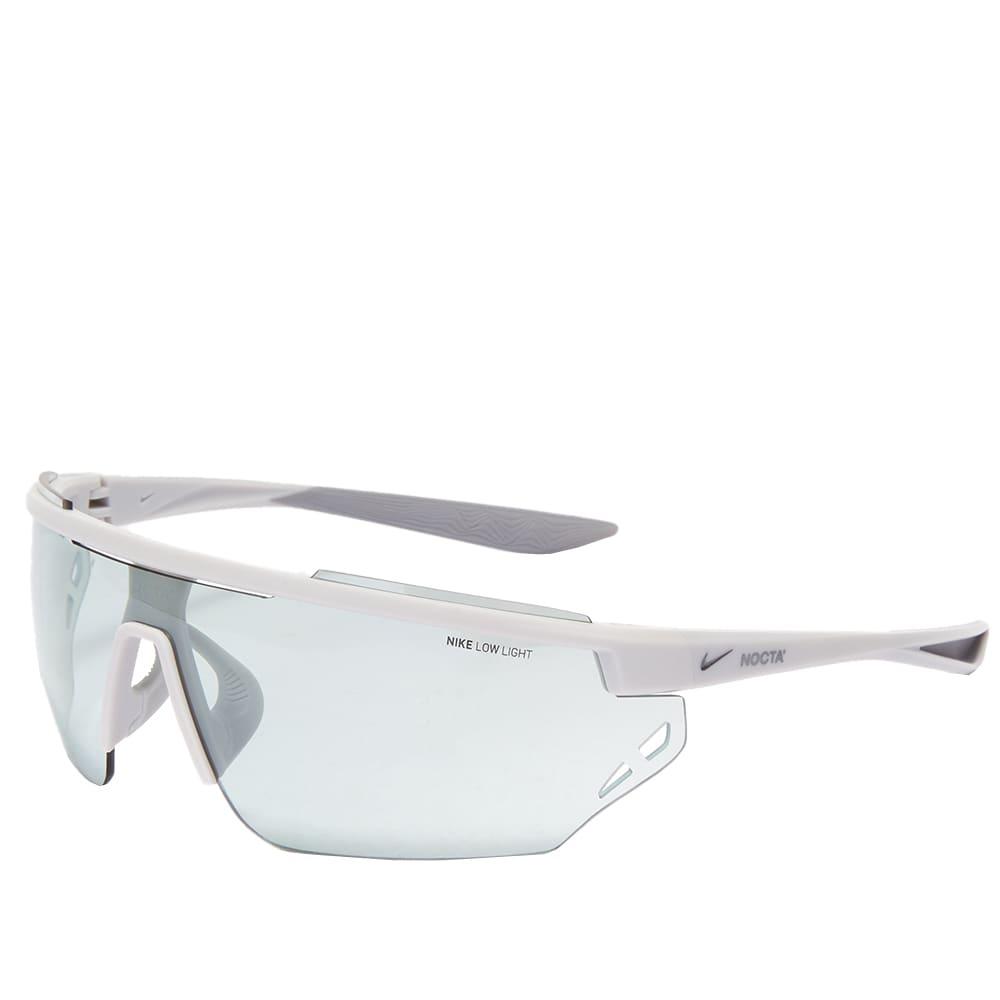 Nike x Drake NOCTA Windshield Elite Sunglasses - Matt Platinum & Light Blue