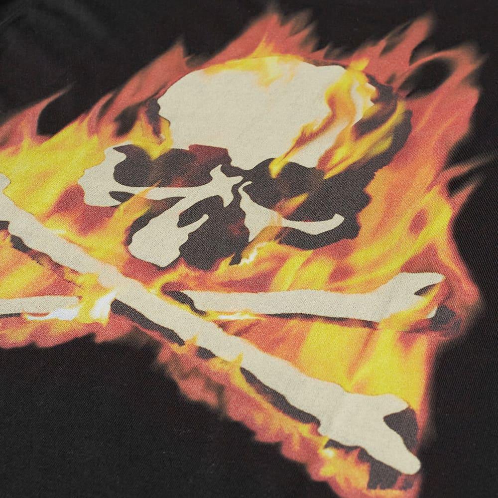 MASTERMIND WORLD Flame Skull Tee - Black & Orange