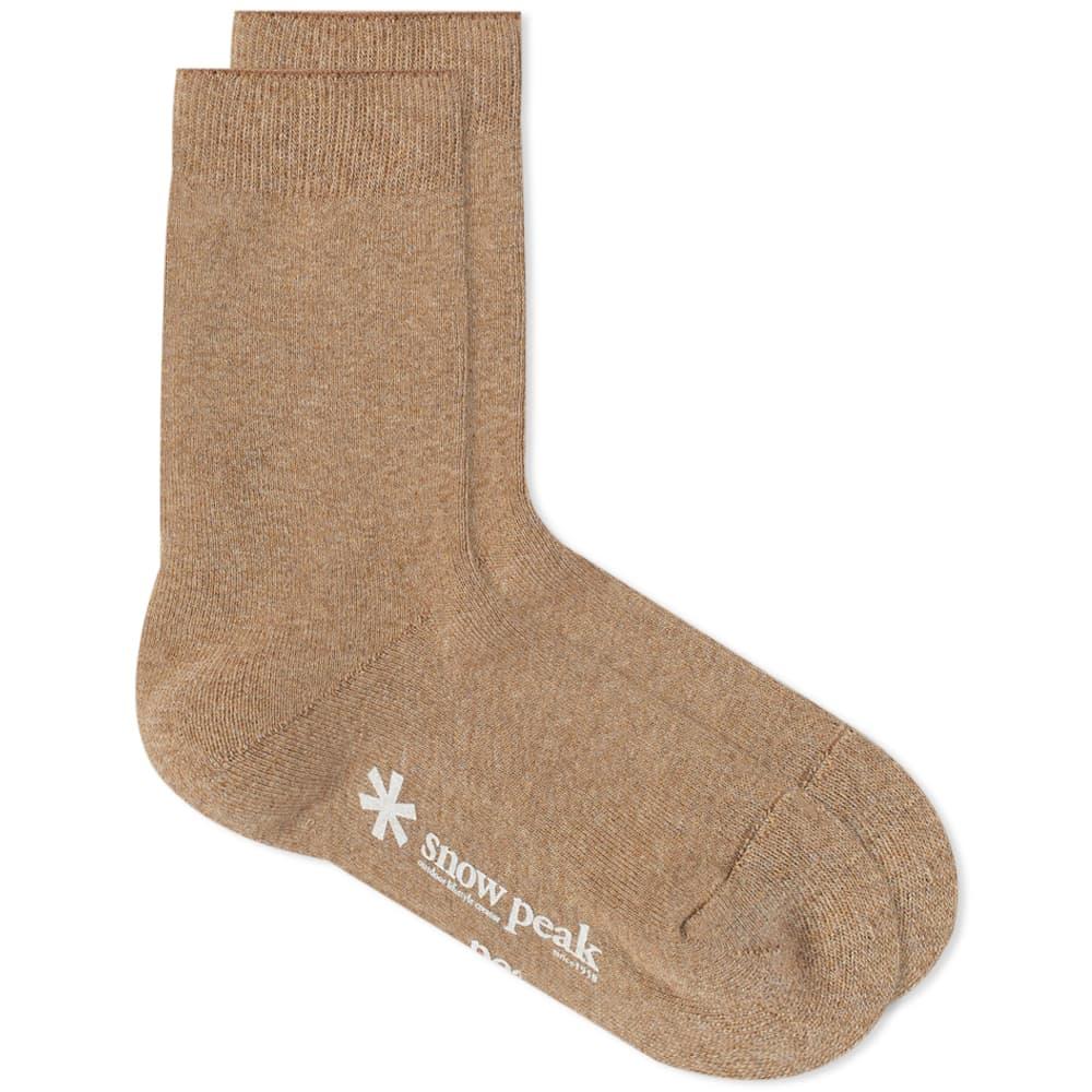 Snow Peak Full Pile Long Sock - Beige