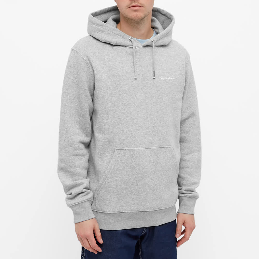 Times New Roman Chest Logo Organic Hoody - Grey