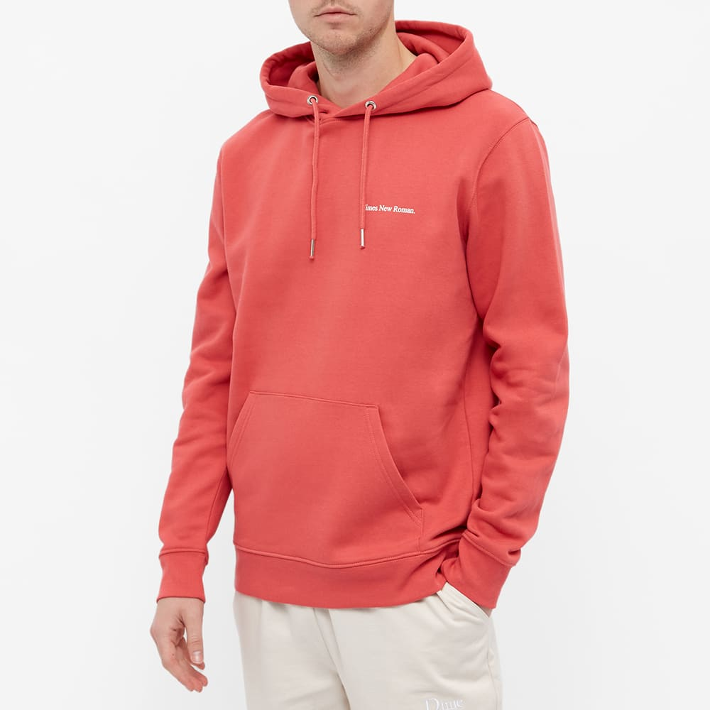Times New Roman Chest Logo Organic Hoody - Red