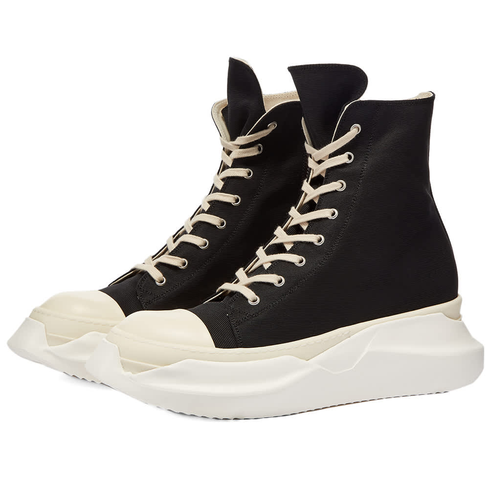 Rick Owens DRKSHDW Abstract Sneak Cotton Twill Sneaker - Black & Milk