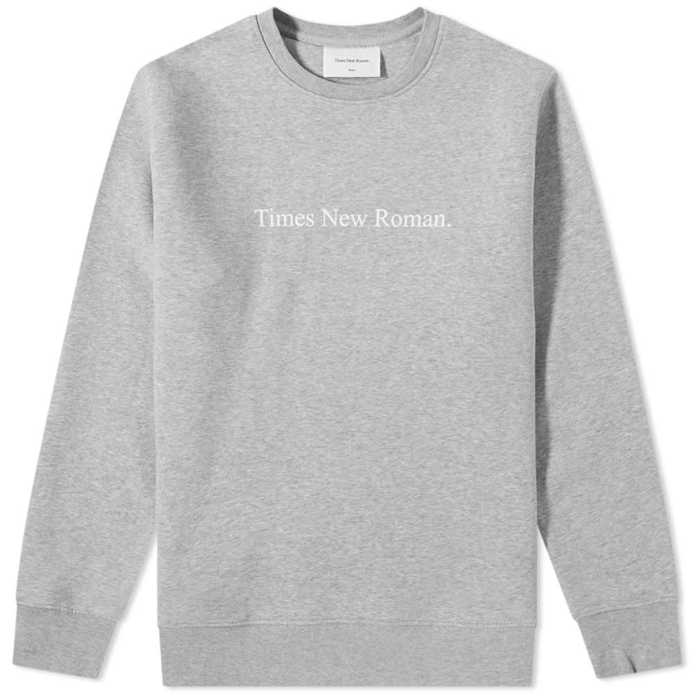Times New Roman Classic Logo Organic Crew Sweat - Grey