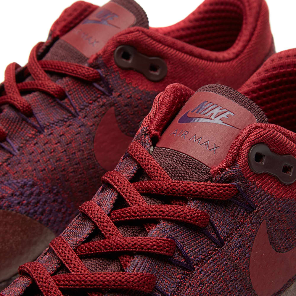 Nike Air Max 1 Ultra Flyknit - Grand Purple & Team Red